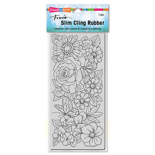 Stampendous - Cling Mounted Rubber Stamps - Slimline - Floral Wings