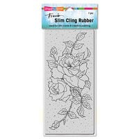Stampendous - Cling Mounted Rubber Stamps - Slimline - Rose Tendrils