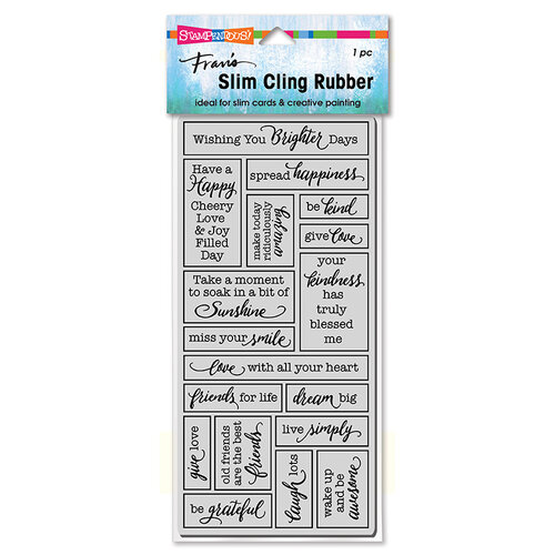 Stampendous - Cling Mounted Rubber Stamps - Slimline - Boxed Words