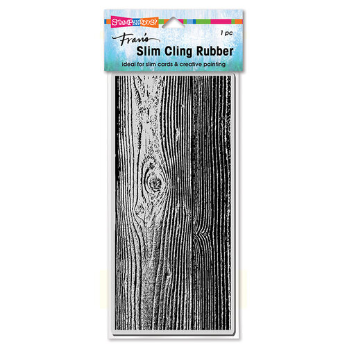 Stampendous - Cling Mounted Rubber Stamps - Slimline - Woodgrain