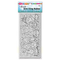Stampendous - Cling Mounted Rubber Stamps - Slimline - Pumpkin Gnomes