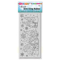 Stampendous - Christmas - Cling Mounted Rubber Stamps - Slimline - Winter Gnomes