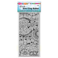 Stampendous - Cling Mounted Rubber Stamps - Slimline - Zentastic