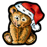 Stampendous - Christmas - Wood Mounted Stamps - Curio Brown Bear