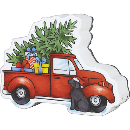Stampendous - Christmas - Wood Mounted Stamps - Curio Truck Side