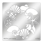 Stampendous - Metal Stencil - Shell Wreath
