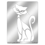 Stampendous - Metal Stencil - Retro Sitting Cat