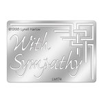 Stampendous - Metal Stencil - With Sympathy