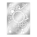 Stampendous - Metal Stencil - Steampunk Clock