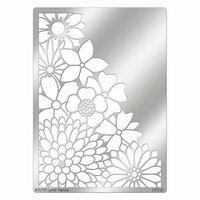 Stampendous - Metal Stencil - Corner Flowers