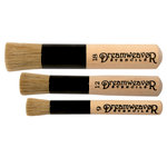 Stampendous - Natural Handle Brush Set - Sizes 9, 12 and 18