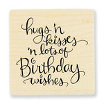 Stampendous - Wood Mounted Stamps - Hugs Kisses Wishes