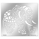 Stampendous - Metal Stencil - Elegant Elephant