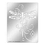 Stampendous - Metal Stencil - Dragonfly Swirl