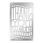 Stampendous - Metal Stencil - Thank You Ensemble