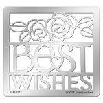 Stampendous - Metal Stencil - Best Wishes Ensemble