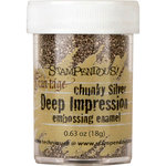 Stampendous - Deep Impressions - Chunky Embossing Enamels - Silver