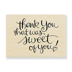 Stampendous - Wood Mounted Stamps - Sweet Of You