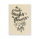 Stampendous - Wood Mounted Stamps - Earth Laughs