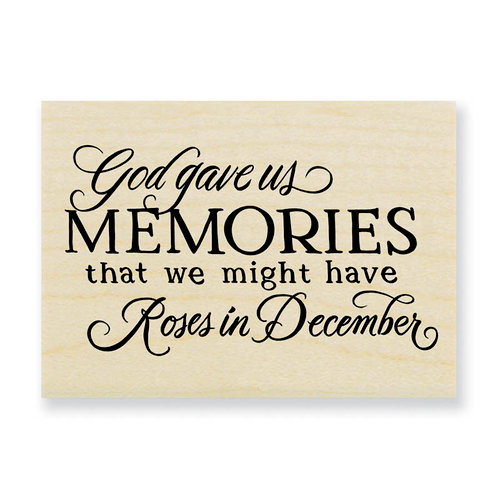 Stampendous - Wood Mounted Stamps - Memories