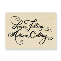 Stampendous - Wood Mounted Stamps - Leaves Falling