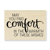 Stampendous - Wood Mounted Stamps - Comfort Wishes