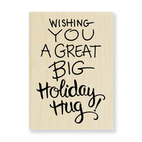 Stampendous - Wood Mounted Stamps - Holiday Hug