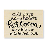 Stampendous - Wood Mounted Stamps - With Marshmallows