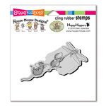 Stampendous - House Mouse Designs - Cling Mounted Rubber Stamps - Dragonfly Ride