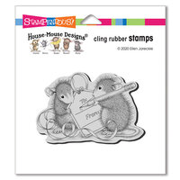Stampendous - Cling Mounted Rubber Stamps - Mouse Tag