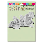 Stampendous - House Mouse Designs - Christmas - Cling Mounted Rubber Stamps - Carrying Candy Canes