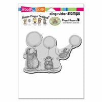 Stampendous - House Mouse Designs - Cling Mounted Rubber Stamps - Balloon Fun