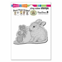 Stampendous - House Mouse Designs - Cling Mounted Rubber Stamps - Clover Bouquet