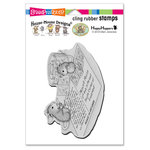 Stampendous - House Mouse Designs - Cling Mounted Rubber Stamps - Postcard Mice