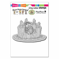 Stampendous - House Mouse Designs - Cling Mounted Rubber Stamps - Icing Roses