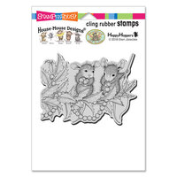 Stampendous - Christmas - House Mouse Designs - Cling Mounted Rubber Stamps - Stringing Berries