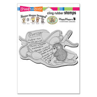 Stampendous - Christmas - House Mouse Designs - Cling Mounted Rubber Stamps - Light Note