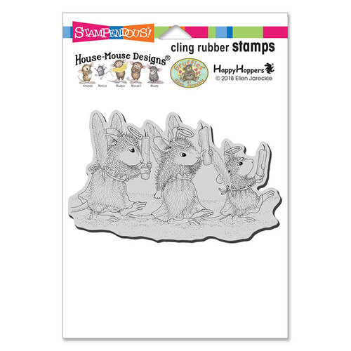 Stampendous - Christmas - House Mouse Designs - Cling Mounted Rubber Stamps - Angel Procession