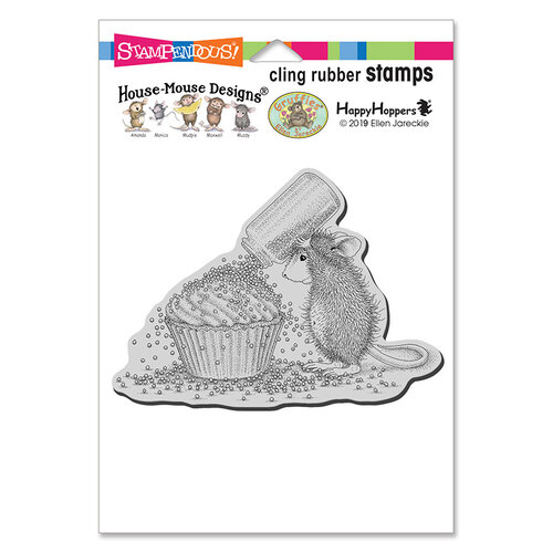Stampendous - House Mouse Designs - Cling Mounted Rubber Stamps - Cupcake Sprinkles