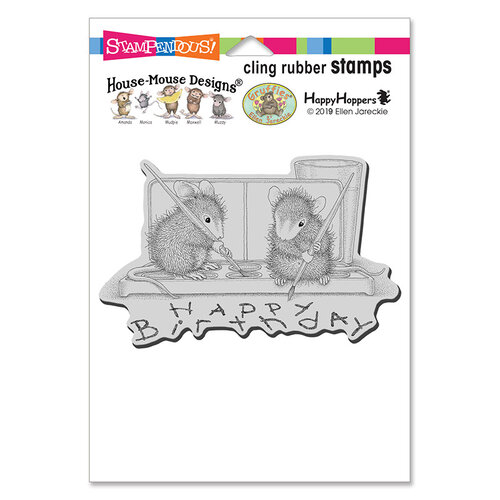 Stampendous - House Mouse Designs - Cling Mounted Rubber Stamps - Watercolor Wish
