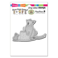 Stampendous - House Mouse Designs - Cling Mounted Rubber Stamps - Birthday Kitty
