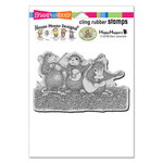 Stampendous - House Mouse Designs - Cling Mounted Rubber Stamps - Band Of Mice