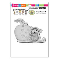 Stampendous - Halloween - Cling Mounted Rubber Stamps - Apple Smile
