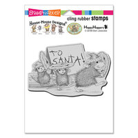 Stampendous - Christmas - Cling Mounted Rubber Stamps - To Santa