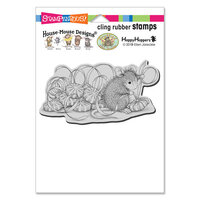 Stampendous - Christmas - Cling Mounted Rubber Stamps - Mint Gifts