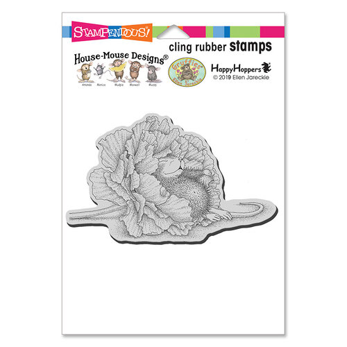 Stampendous - House Mouse Designs - Cling Mounted Rubber Stamps - Dream Flower