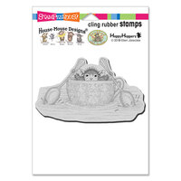 Stampendous - House Mouse Designs - Cling Mounted Rubber Stamps - Teacup Paddler