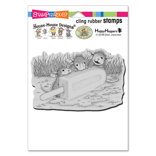 Stampendous - House Mouse Designs - Cling Mounted Rubber Stamps - Cool Treat