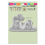 Stampendous - House Mouse Designs - Cling Mounted Rubber Stamps - Dandelion Bouquet