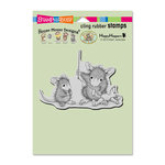 Stampendous - House Mouse Designs - Cling Mounted Rubber Stamps - Teddy Mouse Mend
